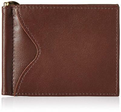 Royce Leather Men's Slim Money Clip Credit Card Wallet in Leather, Brown