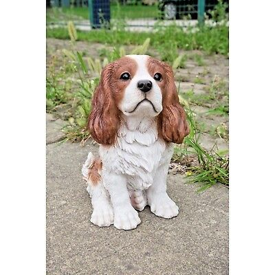 Cavalier King Charles Spaniel Sitting  Brown- Life Like Realistic Decor Statue