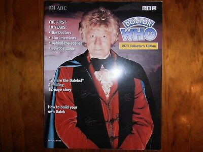 Doctor Who Magazine 1973 Collectors Edition Bbc Reproduction Mint