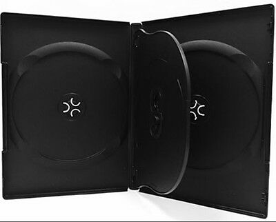 10 pcs New Premium Black Quad Multi hold 4 Discs DVD CD Cases, Standard 14mm, QM