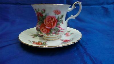 Retro Vintage Royal Albert Centennial Rose Cup And Saucer
