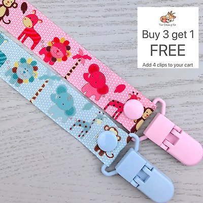 Dummy Clip pacifier chain dummie binky baby soother holder gift clips
