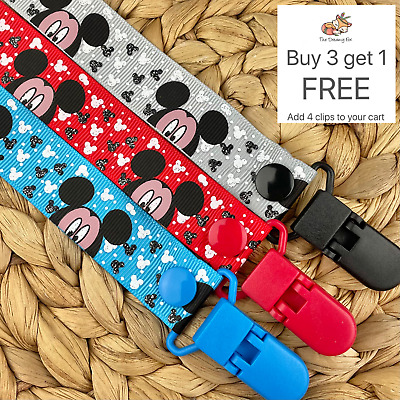 Dummy Clip pacifier chain dummie binky baby clips soother holder gift mickey