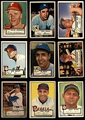 1952 Topps Baseball Low Number Complete Set GD+
