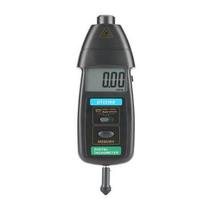 Professional Photo/Contact Tachometer LCD Digital Tach Meter Tester DT2236B