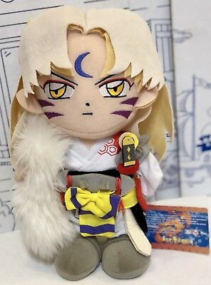 "New InuYasha Sesshomaru Anime Plush Toy 2000 2004 Japanese 10"" Inu Yasha Doll NW"