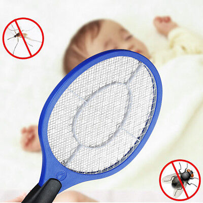 Electronic Swatter Mosquito Kill Electric Zapper Racket Operated Hand Racket jd