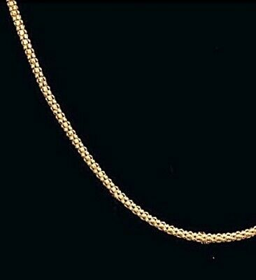 Popcorn Chain 14kt Yellow or White Gold 16  18  20 inch Quality Made Fabulous
