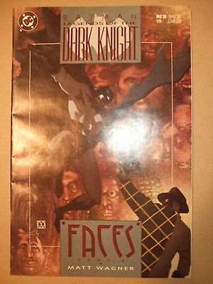 "Batman Legends of the Dark Knight #30 (""Faces"" Part 3), Wagner (VFN) DC 1991"