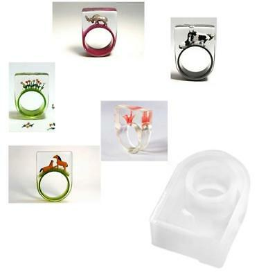 C-Shaped Bracelet Square Head Ring Mold Bracelet Mold Epoxy Silicone Mold DIY