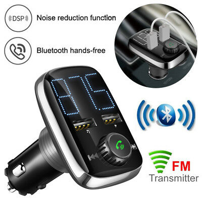 Reproductor Transmisor MP3 FM Mechero Coche Radio Bluetooth TF USB LCD Cargador