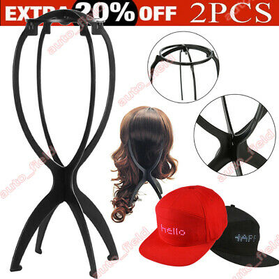 Stand Holder Plastic Folding Stable Wig Hair Hat Cap Display Support Air DryTool