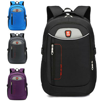 New Mens Oxford Laptop Backpack Waterproof Rucksack Outdoor Travel School Bag
