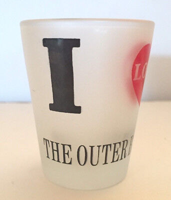 I Love The Outer Banks Frosted Shot Glass