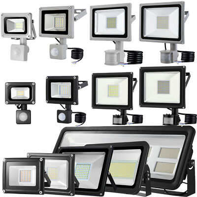 Projecteur LED PIR 10/20/30/50/100/150/300W Sensor Motion Security Flood Lights