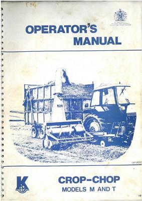 Kidd Crop - Chop Forage Harvester M (Mounted) & T (Trailed) Operators Manual