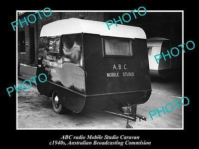 OLD HISTORIC PHOTO OF ABC RADIO CARAVAN, AUSTRALIAN BROADCASTING COMMISION 1940s