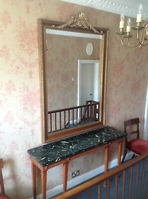 Regency Consul Table And Mirror