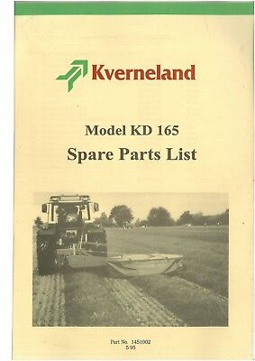 Kverneland Mower KD165 Parts Manual