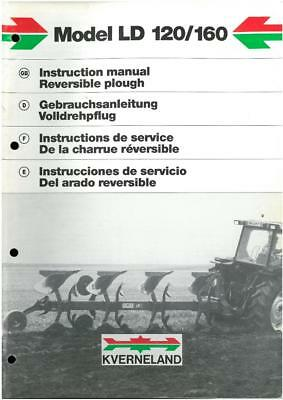 Kverneland Reversible Plough Model LD120 & LD160 Operators Manual