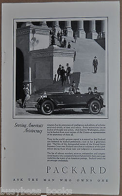 1926 Packard advertisement, chauffeur, PACKARD auto at U.S. Capitol Building