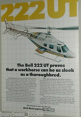 1986 Bell Helicopter ad, Bell 222 UT helicopter