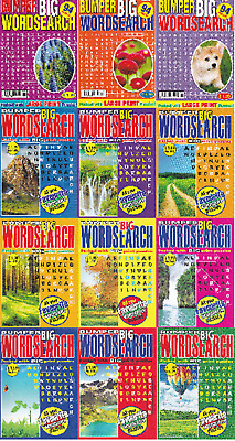 Wordsearch Book - Large Print -  12 Book Set - 1128 Puzzles - New
