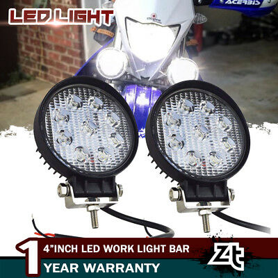 2X 27W Motorcycle LED Passing Lamp Fog Driving Spot Light For BMW Motorcycle 4In