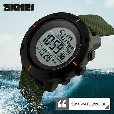Mens Rubber LED Waterproof Watch Date Military Quartz Sport Wristwatches A *YW