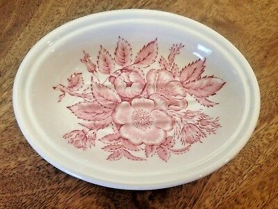 "Wedgwood Mason's CRABTREE & EVELYN SOAP DISH 5-3/4"" pink floral perfect vintage"