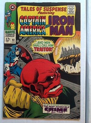 TALES OF SUSPENSE #90 (Marvel 1967) FN+! Red Skull Cover! SHIPS FREE