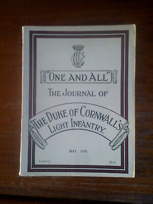 DCLI Cornwall Light Infantry Regiment Journal May 1930 British Army History