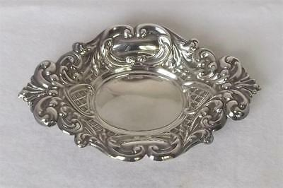 A Stunning Vintage Solid Sterling Silver Bon Bon Dish Sheffield 1968.