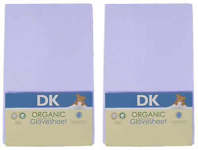 New DK organic glovesheet chicco next2me & lullago 2 fitted sheet blue 83x50 cm