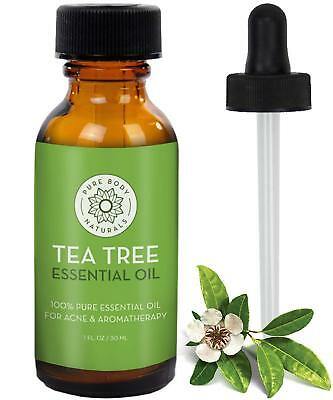 100% Pure Tea Tree Essential Oil, for Acne, Hair and Diffuser, 1 Ounce