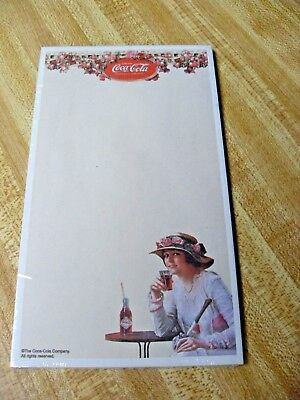 SEALED! Coca Cola Coke Magnetic Note Pad with Woman Girl (40 sheets - 4 x 7)