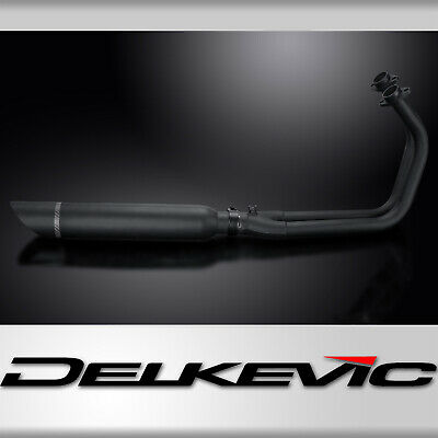 KAWASAKI VULCAN S 15-18 FULL 2-1 Ceramic Black Exhaust System 410mm Silencer