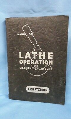 Atlas Craftsman Manual of Lathe Operation and Machinists Tables, 1960, 180821