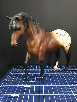 Breyer traditional Toy horse Brown and white with Brown spots NICE !