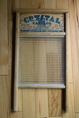 ANTIQUE CRYSTAL CASCADE GLASS WASHBOARD STANDARD FAMILY SIZE NO 2080 Columbus OH