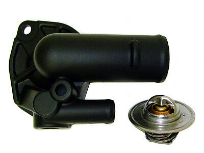 Jeep XJ ZJ YJ TJ WJ 4.0L Super High Flow Thermostat Housing BLACK CERAMIC Coated