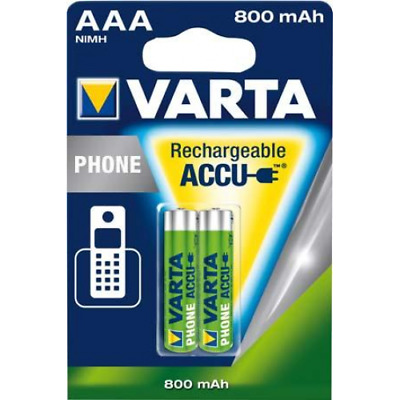 2 Accus/Piles Rechargeables AAA/HR03 HR03 800mAh Phone 1,2V Varta
