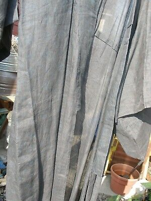 HEMP? OR LINEN? INDIGO DYED KIMONO, EARLY 1900's, see description