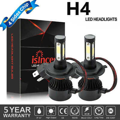 CREE COB H4 1500W 225000LM LED Headlights Kit HB2 9003 Hi/Lo Power Bulbs 6000K M