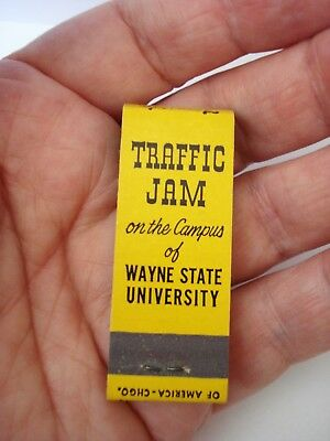 Vintage Matchbook from the Traffic Jam on the Campus of Wayne State University