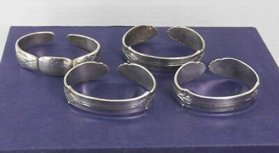 Vintage 1950s ABSA Silverplated Napkin Rings Denmark Lot of 4