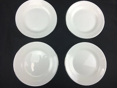 """Set of FOUR ( 4 ) 6"""" Wedgwood Silver Ermine Bread and Butter Plates Bone China"""