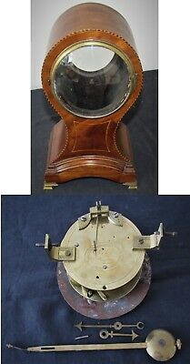 Delightful English Fusee Balloon Clock By Viner Of London