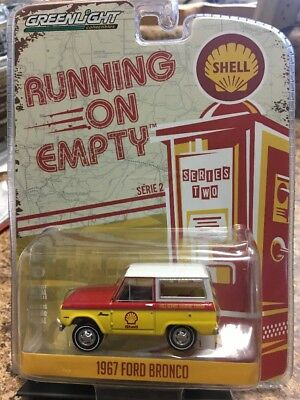 Greenlight Running On Empty 1967 Ford Bronco 1:64 Scale MOC