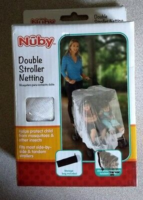 Nuby Double Stroller Netting for Mosquitoes with Storage Pouch